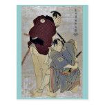 Otani Oniji e Ichikawa OmezoIby Toshusai Sharaku Postales