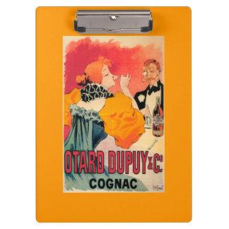 Otard-Dupuy & CO. Cognac Promotional Poster Clipboard