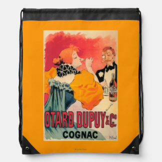 Otard-Dupuy & CO. Cognac Promotional Poster Drawstring Backpack