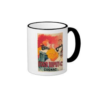 Otard-Dupuy & CO. Cognac Promotional Poster Ringer Coffee Mug