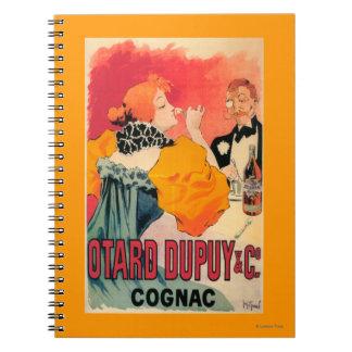 Otard-Dupuy & CO. Cognac Promotional Poster Spiral Notebook