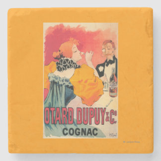 Otard-Dupuy & CO. Cognac Promotional Poster Stone Coaster