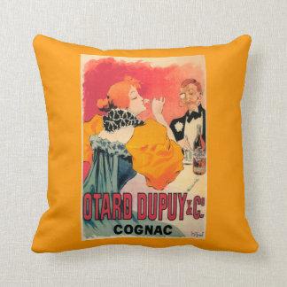 Otard-Dupuy & CO. Cognac Promotional Poster Throw Pillow