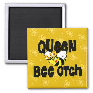 Otch de la abeja reina imán cuadrado
