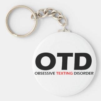 OTD - Desorden obsesivo de Texting Llavero Redondo Tipo Pin