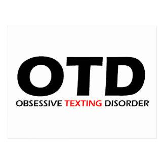 OTD - Desorden obsesivo de Texting Tarjetas Postales