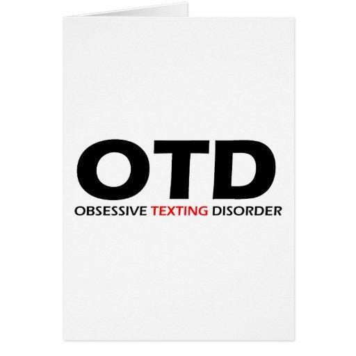 OTD - Desorden obsesivo de Texting Tarjetón