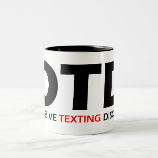 OTD - Desorden obsesivo de Texting Taza De Café