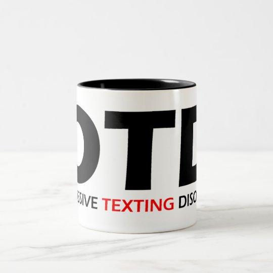 OTD - Obsessive Texting Disorder Two-Tone Coffee Mug