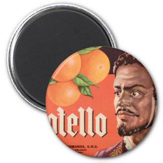 Otello Orange Label 2 Inch Round Magnet