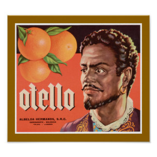 Otello Orange Label Poster
