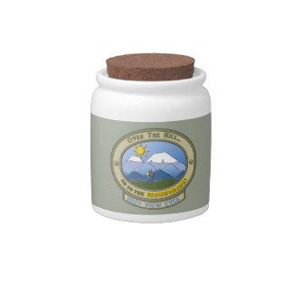 OTH..., 10 oz. Candy Jar, White Porcelain Candy Jar