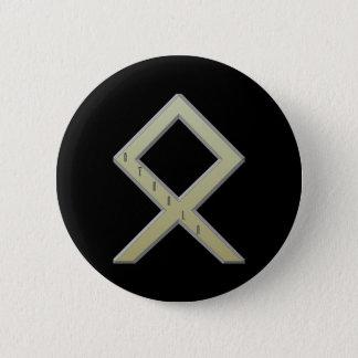 Othala Rune gold Button