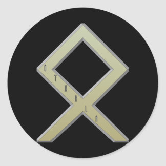Othala Rune gold Classic Round Sticker