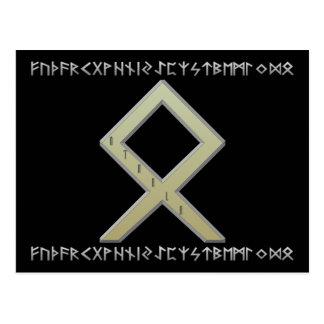 Othala Rune gold Postcard