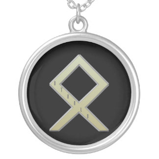 Othala Rune gold Silver Plated Necklace