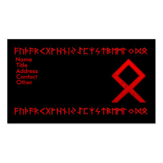 Othala Rune red Business Card Templates