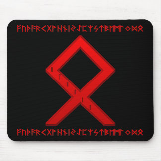 Othala Rune red Mouse Pad