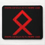 Othala Rune red Mousepad