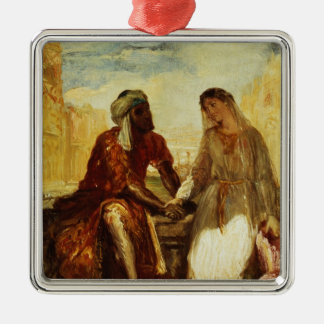Othello and Desdemona in Venice, 1850 Metal Ornament
