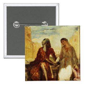 Othello and Desdemona in Venice, 1850 Pinback Button