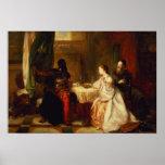 Othello que se relaciona sus aventuras con Desdemo Poster