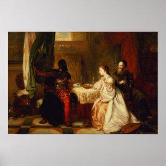 Othello que se relaciona sus aventuras con Desdemo Póster