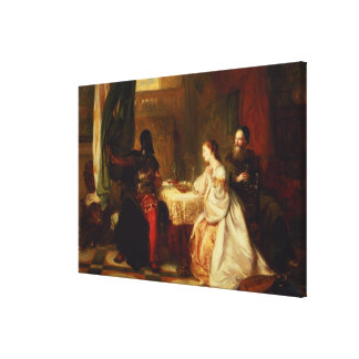 Othello Relating His Adventures to Desdemona Canvas Print