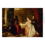 Othello Relating His Adventures to Desdemona Card