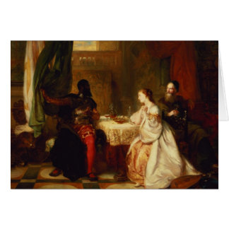 Othello Relating His Adventures to Desdemona Greeting Card