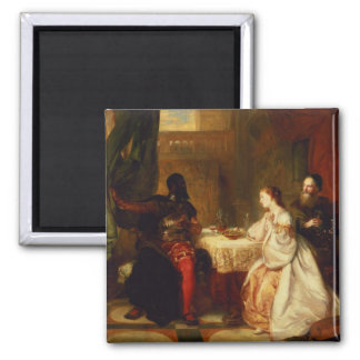 Othello Relating His Adventures to Desdemona 2 Inch Square Magnet