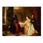Othello Relating His Adventures to Desdemona Post Card