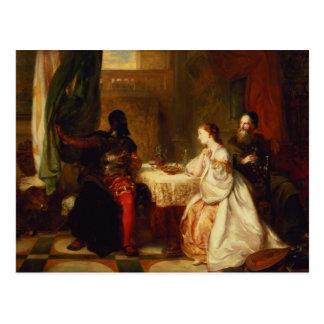 Othello Relating His Adventures to Desdemona Postcard