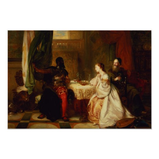 Othello Relating His Adventures to Desdemona Poster
