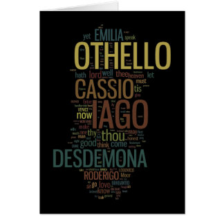 Othello Word Mosaic Card