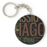 Othello Word Mosaic Keychain
