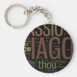 Othello Word Mosaic Keychains