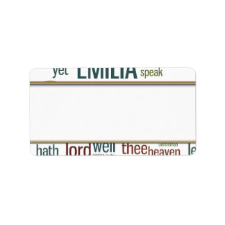 Othello Word Mosaic Label