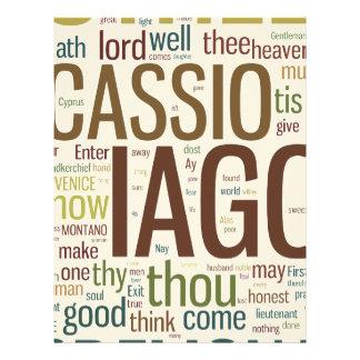 Othello Word Mosaic Letterhead Design