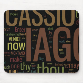 Othello Word Mosaic Mouse Pad