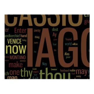 Othello Word Mosaic Postcard