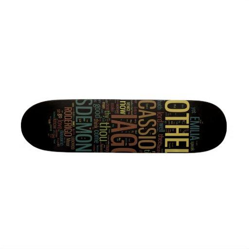 Othello Word Mosaic Skate Board Deck