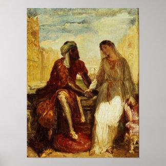 Othello y Desdemona en Venecia, 1850 Póster