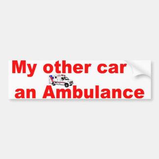 other car ambulance car bumper sticker
