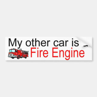 other car fire bumper sticker