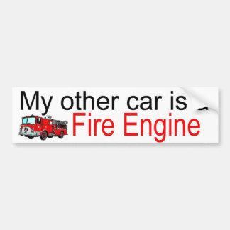 other car fire car bumper sticker