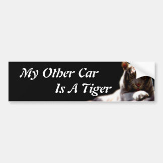 Other Car is a Tiger Sticker Bumper Stickers