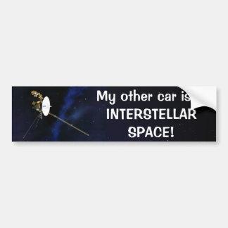 Other Car is in INTERSTELLAR SPACE! Bumper Sticker Car Bumper Sticker