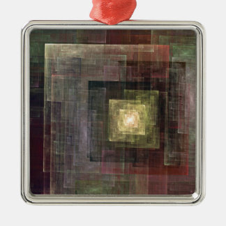 Other Dimensions Square Metal Christmas Ornament