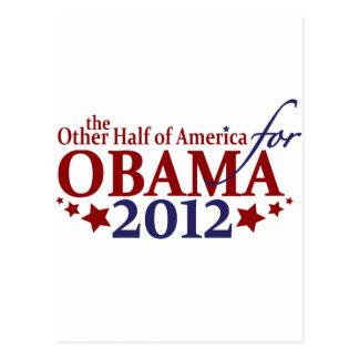 Other Half of America for Obama 2012 Postcard